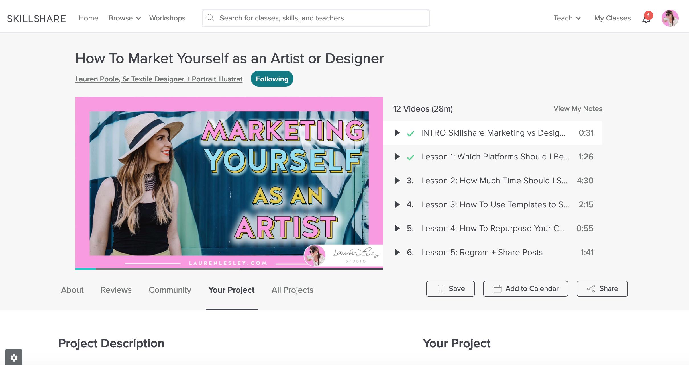 Marketing yourself as an artist