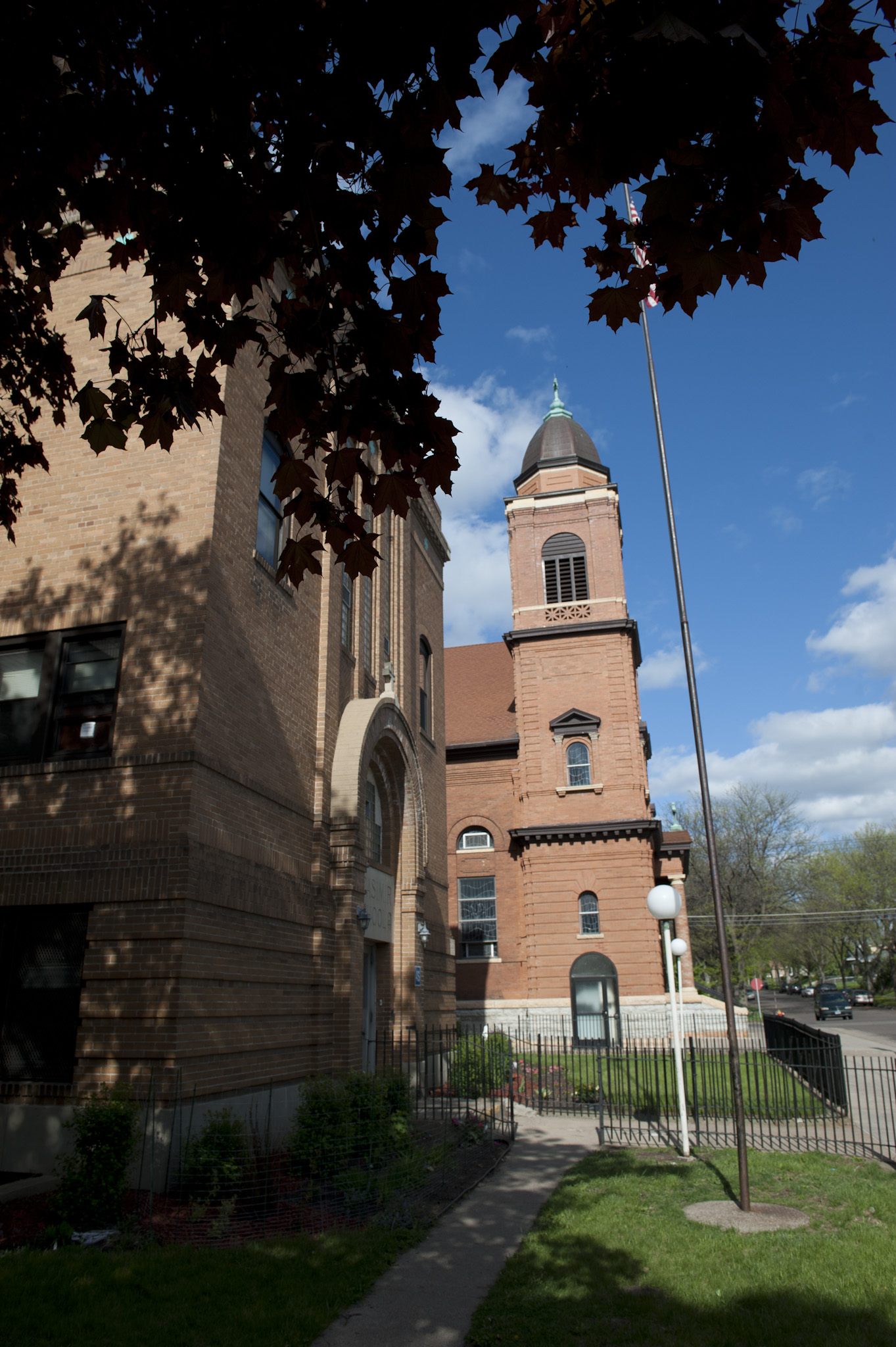 St. Casmir's Catholic Church and School next door