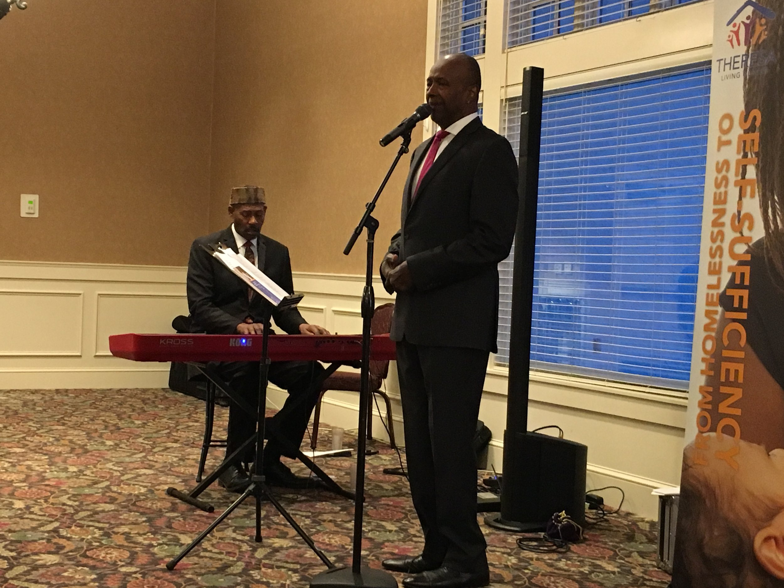 Wonderful music by keyboardist Thomas West and vocalist Maurice Jacox, who performed several selections during the event. They added so much to our morning—thank you, gentlemen!