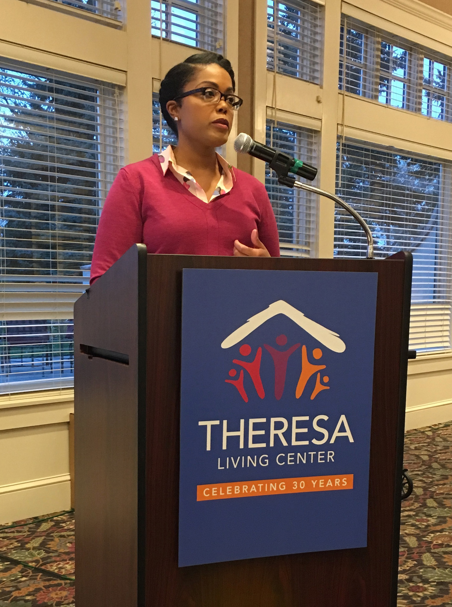 Keynote speaker Acooa Ellis, Senior Vice president of Community Impact for the Greater Twin Cities United Way, spoke about the challenges of addressing homelessness in the Twin Cities.