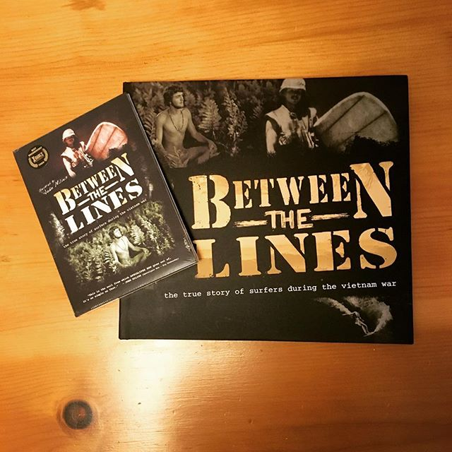 A big thanks to Jerry Anderson for allowing us to check out a copy of the book & film Between The Lines about surfing during the Vietnam war. Incredible & important history being told. And a big thanks to him for supporting Resurface too!