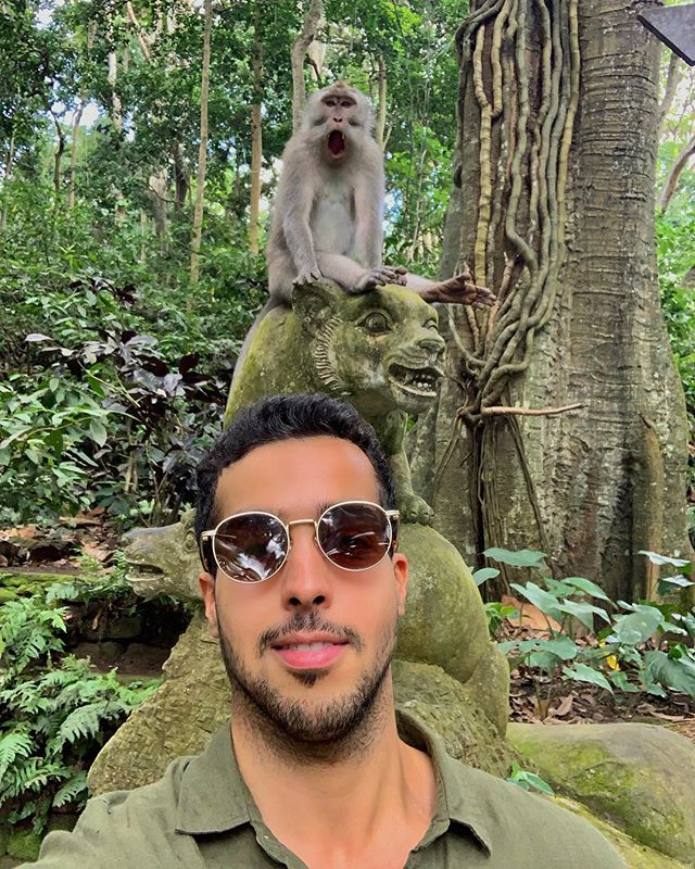 his reaction says it all 😮😂 #monkeyforest