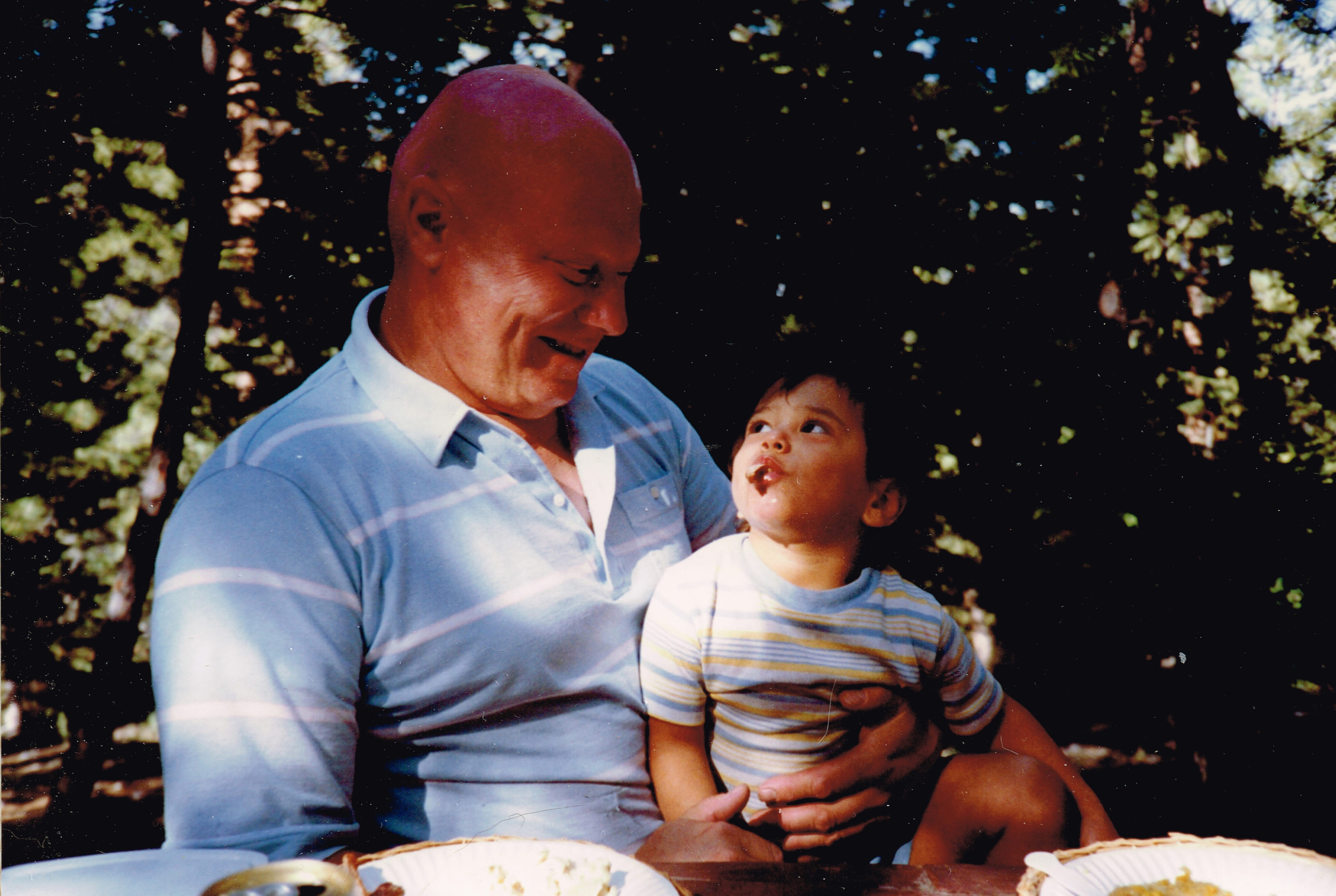 Christian learning to become a steward of the land from his Father Siegfried in 1989