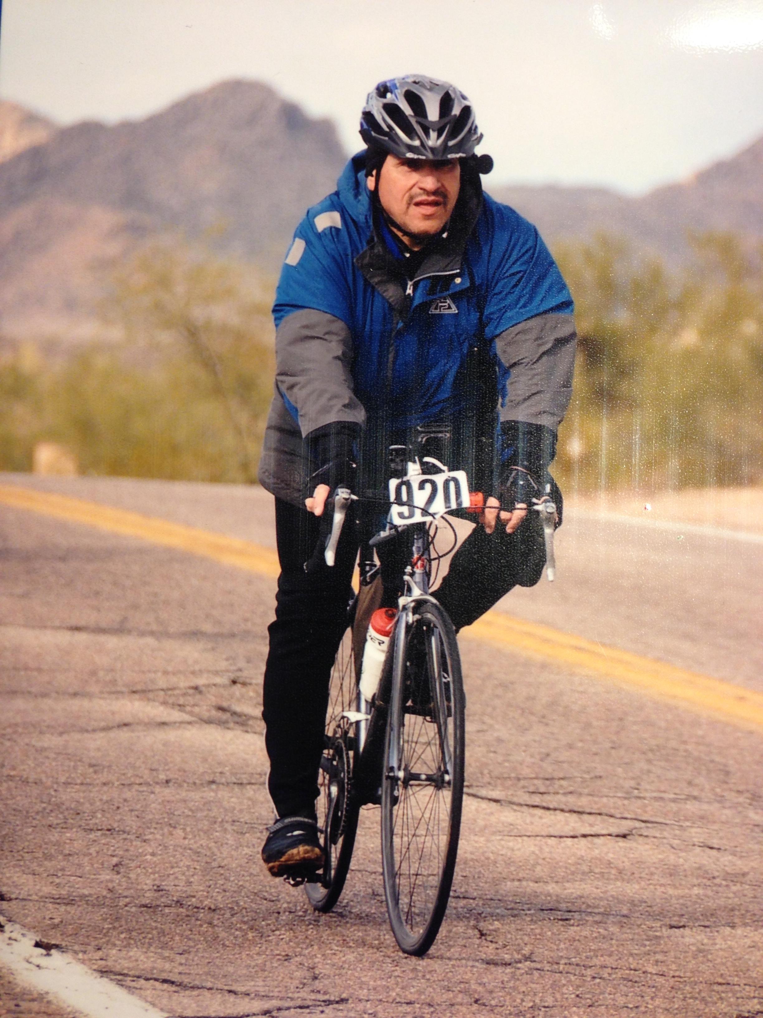Al Martinez Riding in the 2013 Tour De Tucson