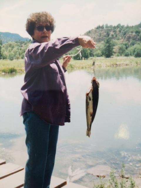 steve's mom jenny peru caught the biggest fish of the Day!