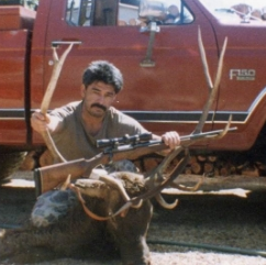 A young Lupe with a bull elk
