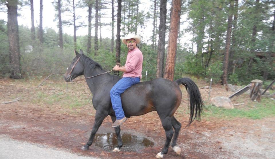 Rock on horseback