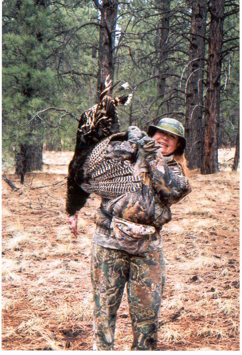Anita Anaya, Martin's wife, with turkey harvest pre-Schultz Fireburn (2006)