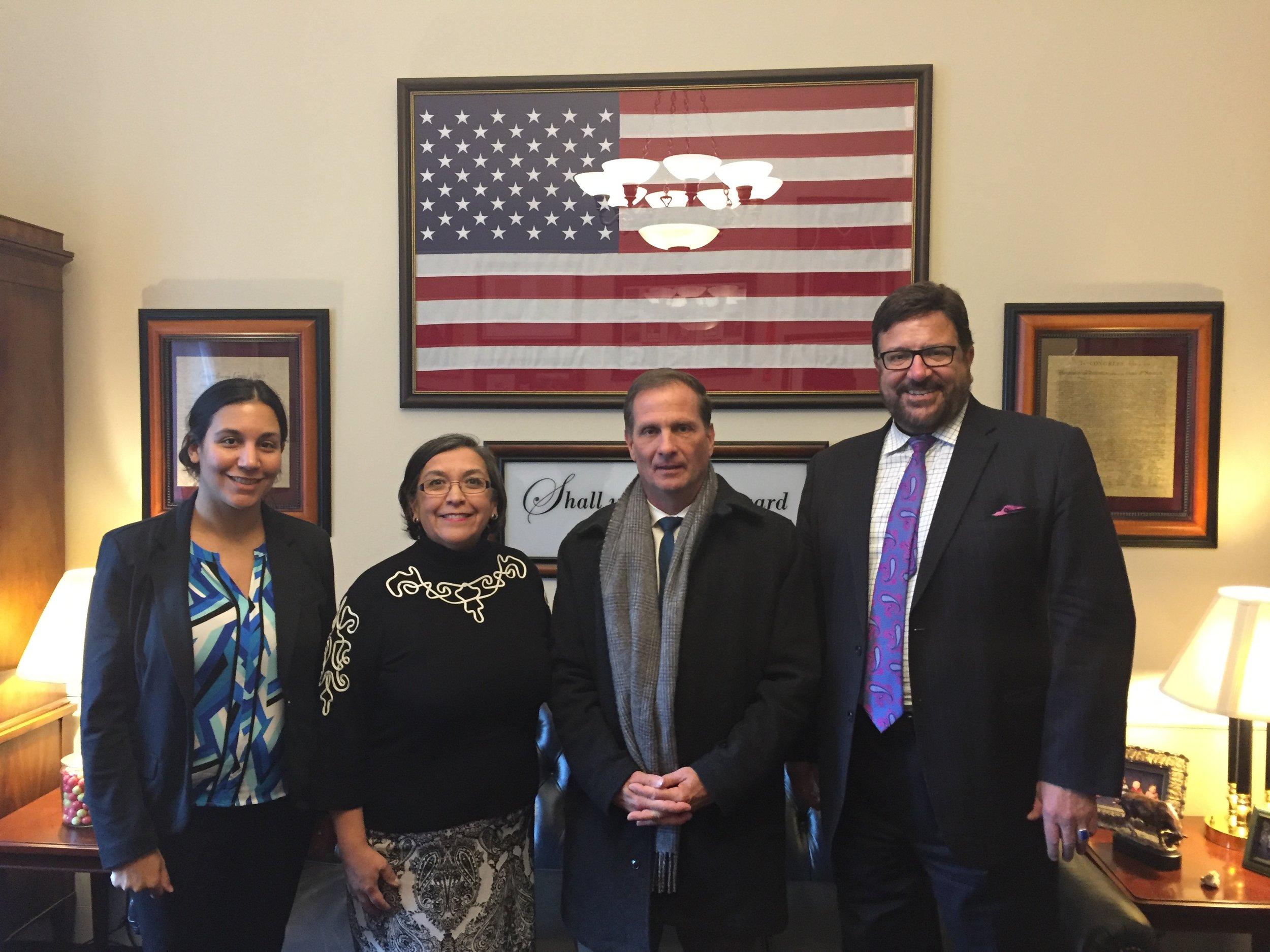 Camilla Simon, UT State Rep. Rebecca Chavez-Houck, U.S. Congressman Chris Stewart, and UT State Rep. Mark Archuleta Wheatley