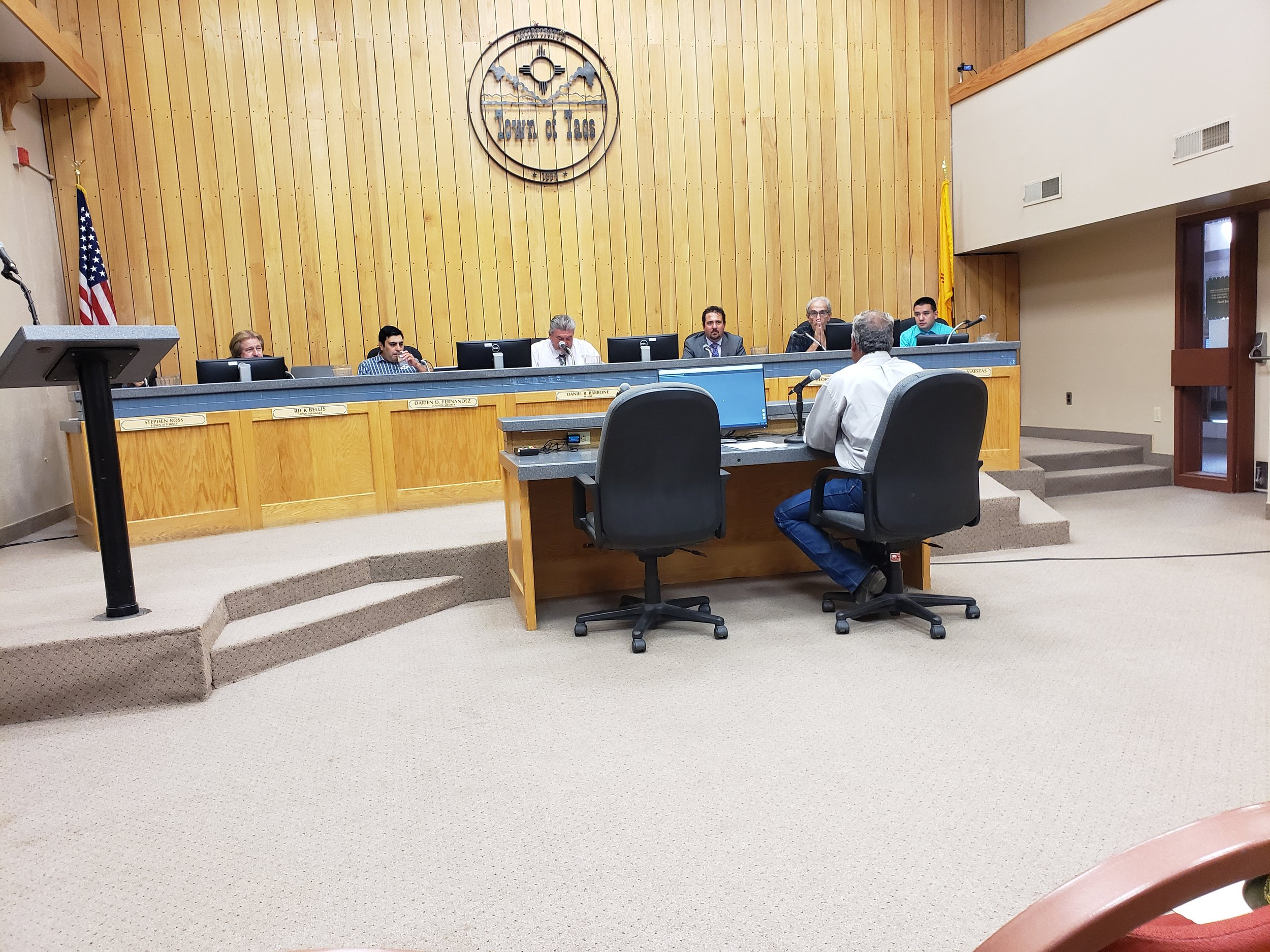 HECHO National Advisory Board Member, Rock Ulibarri, shares comment in support of the Wildlife Corridors Resolution in the Town of Taos County Commission Meeting