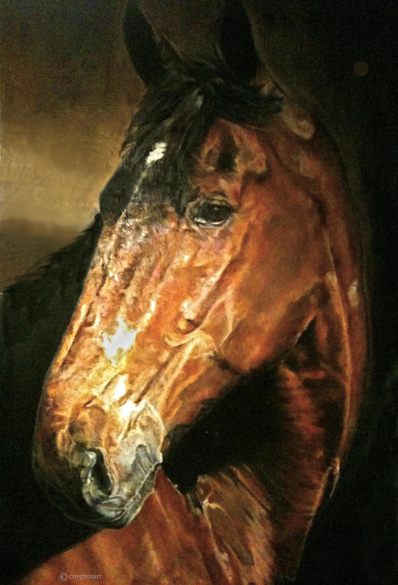"""Braveheart""  Oil   36 x 24   Private Collection"