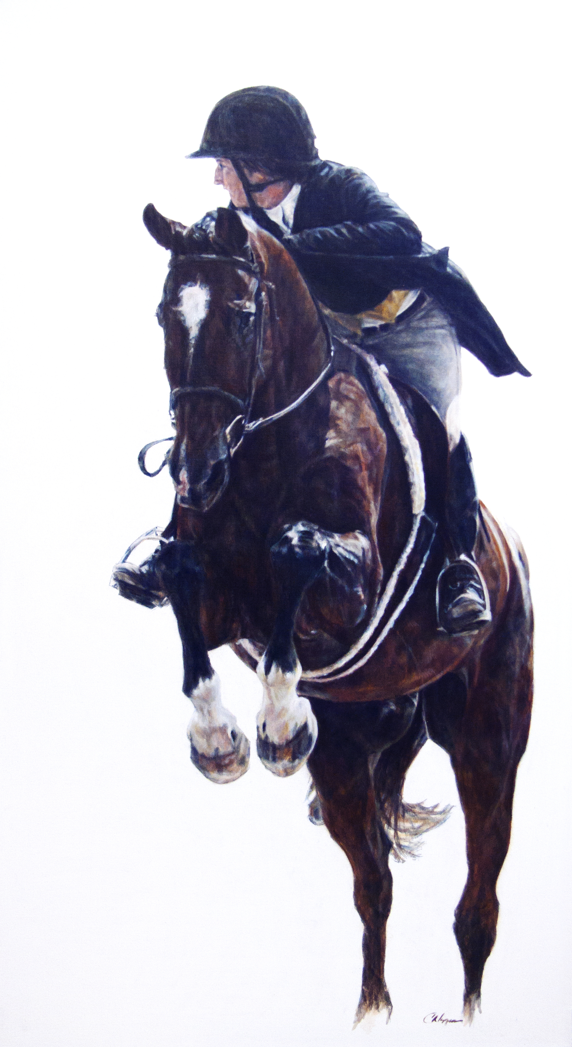 """""""Looking Ahead""""  Oil  40 x 22  Available"""