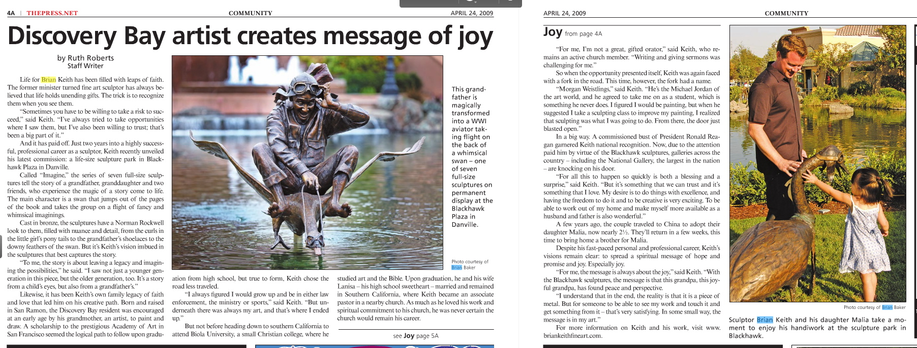 Discovery Bay Press feature article
