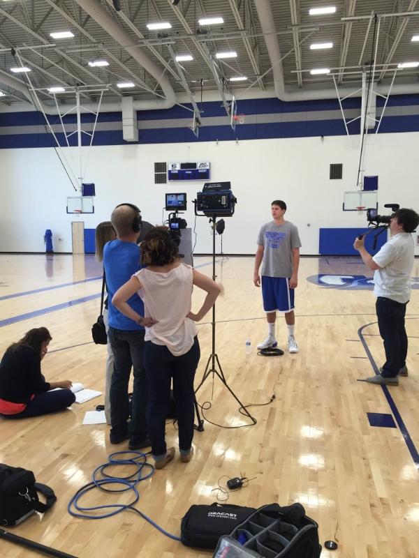 V2 Content filming Doug McDermott