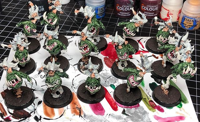 Making progress! Armasquiggon 2019 is well underway. Some friends and I are building small all squig armies for Age of Sigmar to play a narrative campaign later this summer. We're all starting at 1000pts (maybe just in time for Generals Handbook 2019)