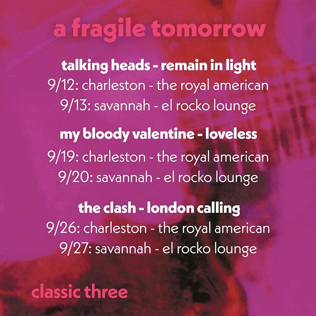 Next up in the Classic Three series is My Bloody Valentine's Loveless! This is one of our all time favorite albums and we can't wait to play it for you guys. See you Thursday at @theroyalamerican in Charleston and Friday at @elrockolounge in Savannah!