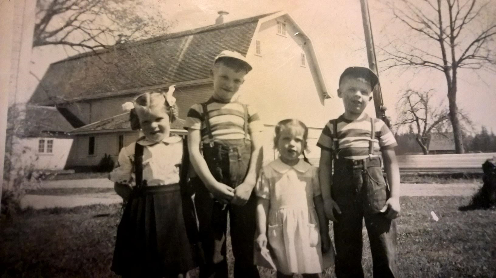Me, my brother Lyle, my sister Marcia, and my brother Mark.