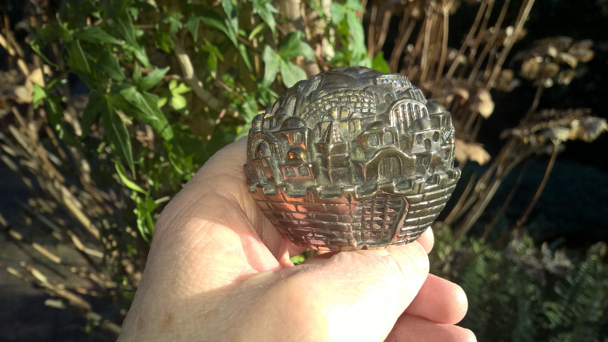 Replica of a sculpture of ancient Jerusalem.