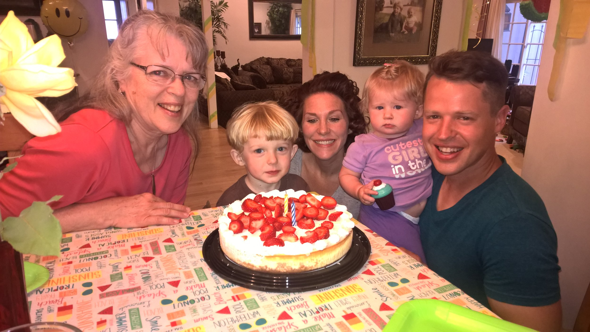 Surprise visit for Ezra's 36th birthday in LA this week as we remembered his birth on Mother's Day.