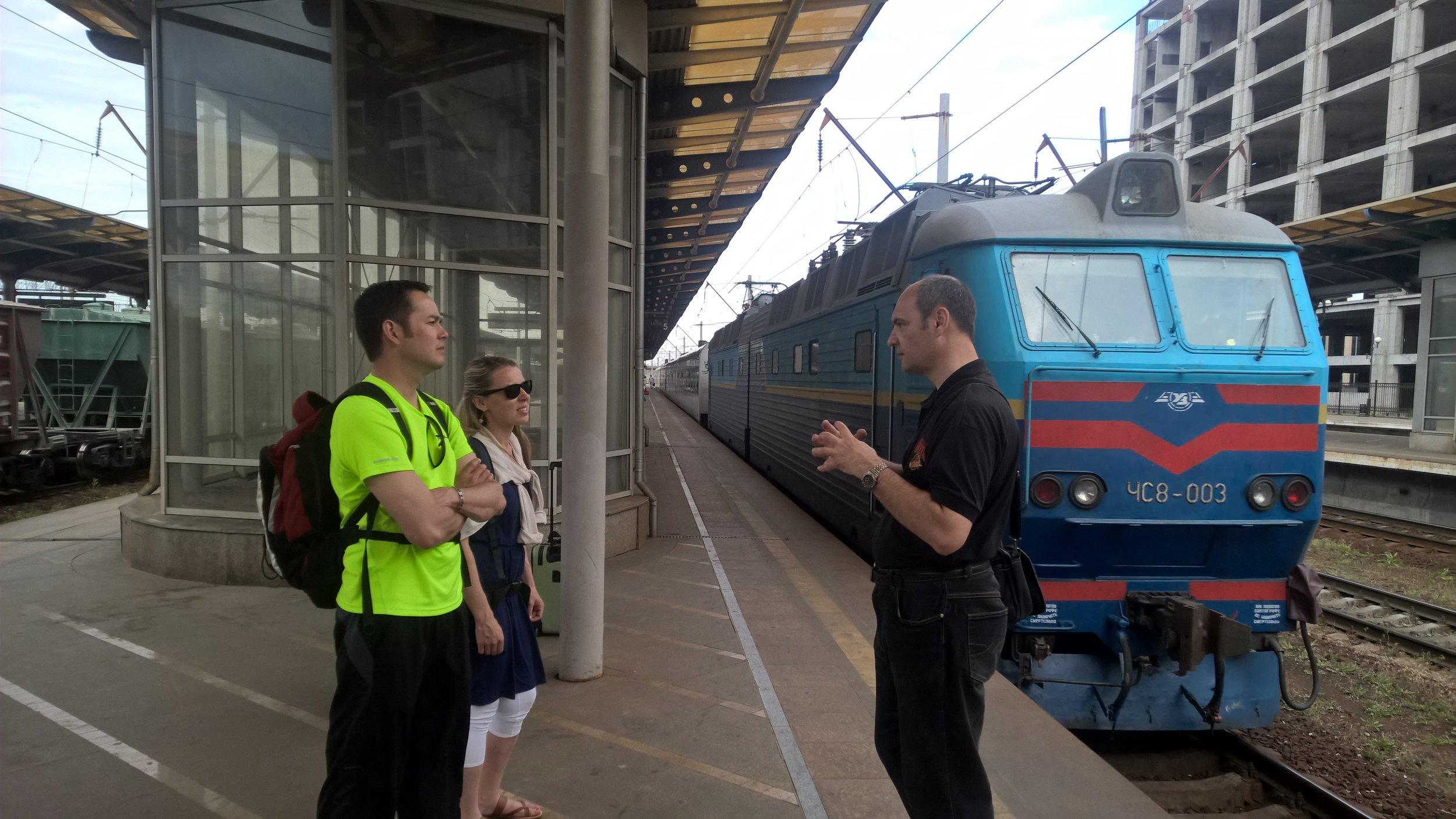 Kiev train station.