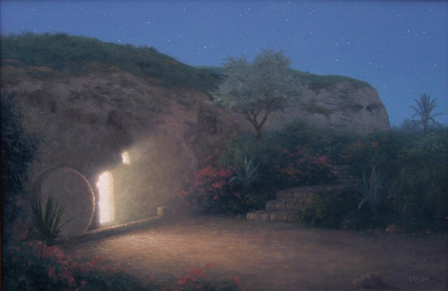 The empty tomb by Ezra Suko. It is my favorite painting of this place that I have been to two times.