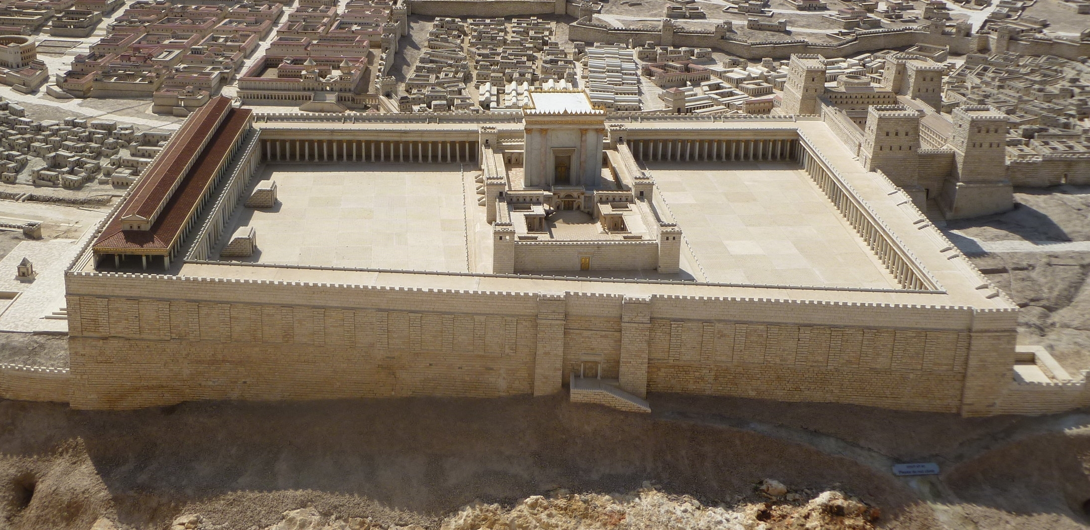 Miniature model in Jerusalem of the Temple as it was in Christ's time.