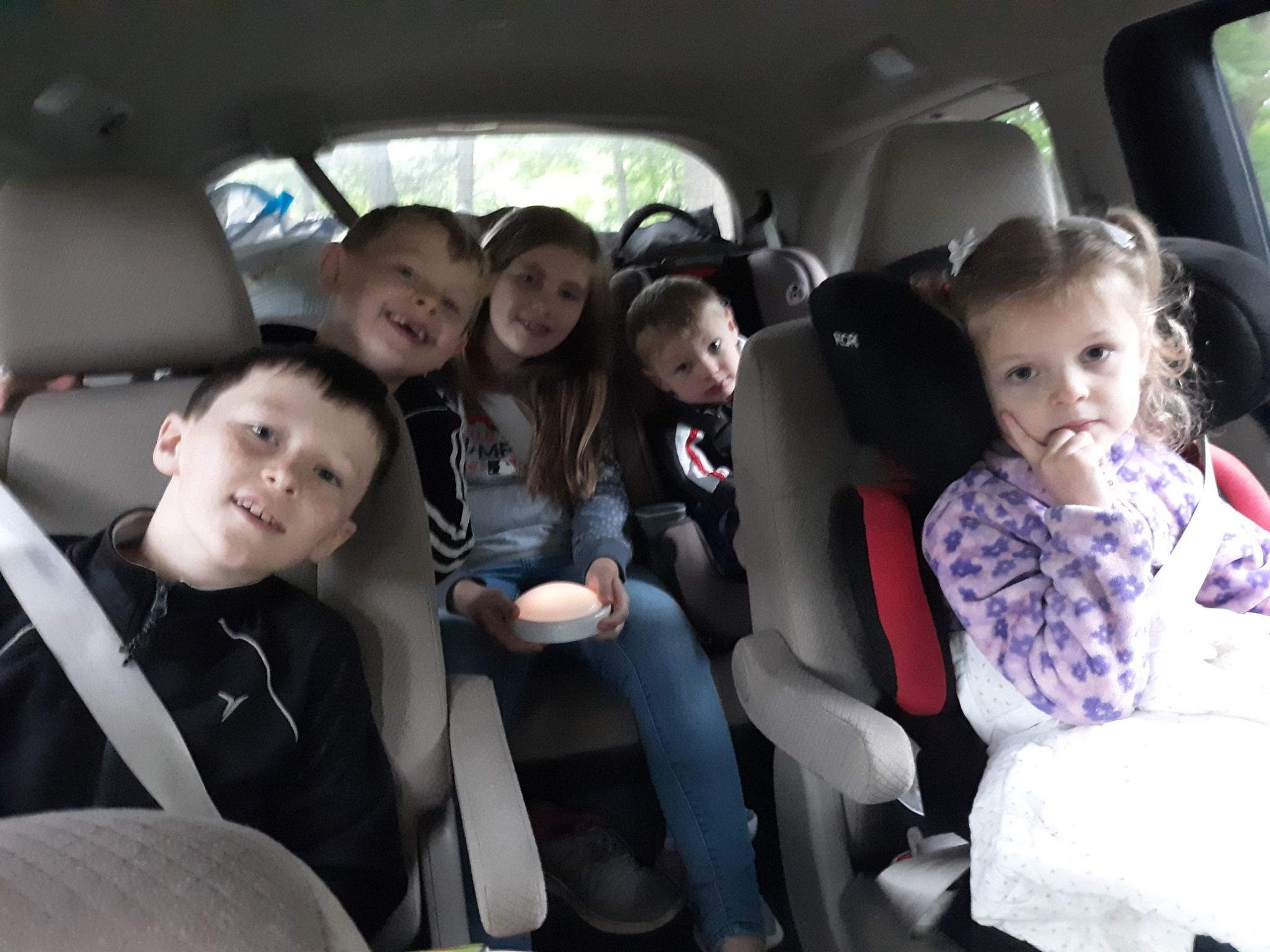 "Some of the Gustafson kids said, ""When are we going to get to America?"" Arriving after a trip across the US. To them America was grandpa and grandma's place."