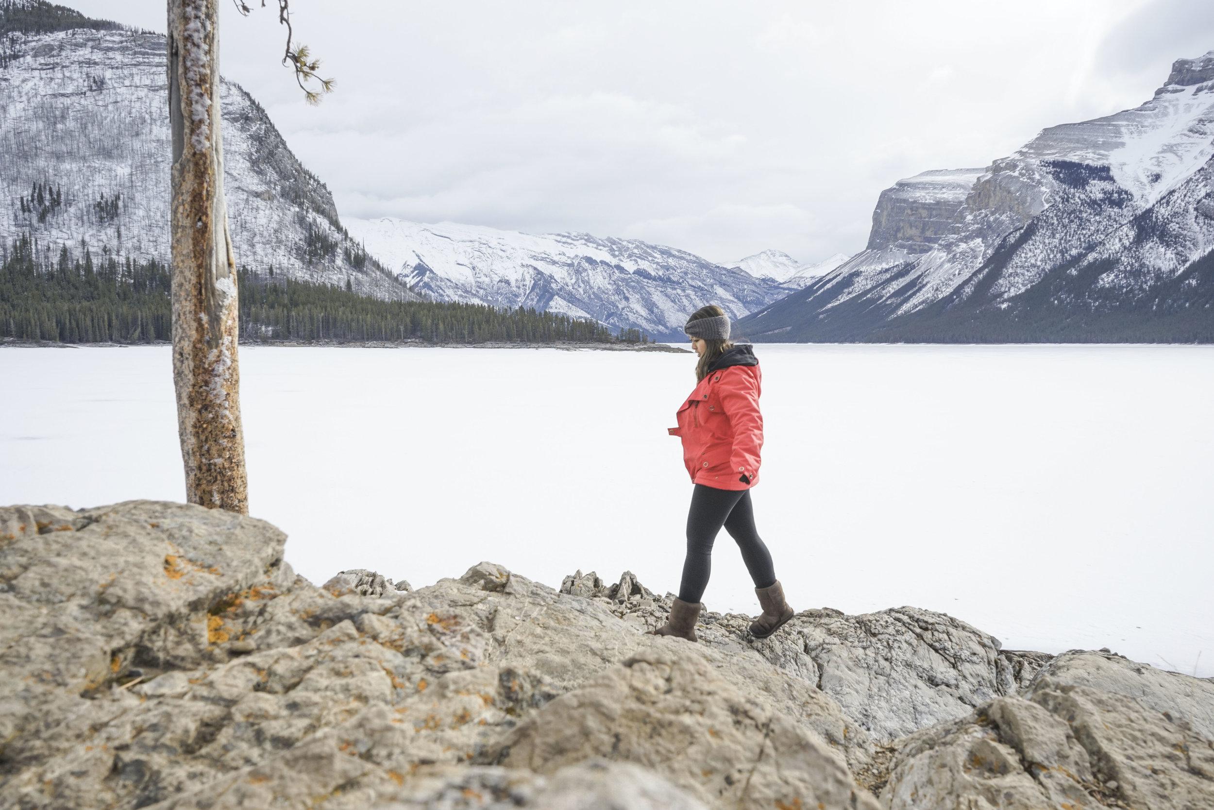 The beautiful Banff, Alberta in winter
