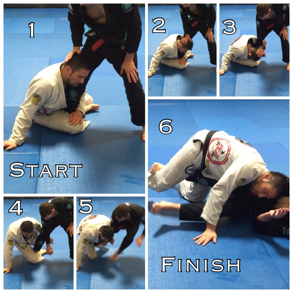 Single Leg take down From Koala. This option works with or without grabbing their arm. However grabbing their sleeve provides several counter options.   See example below.