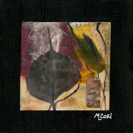 From the Forest Floor (4x4 mixed media on 6x6 cradle board)