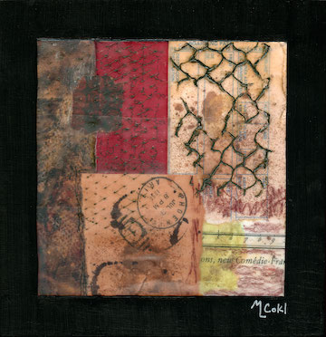 An Equality of Station (6x6 mixed media on 8x8 cradle board)