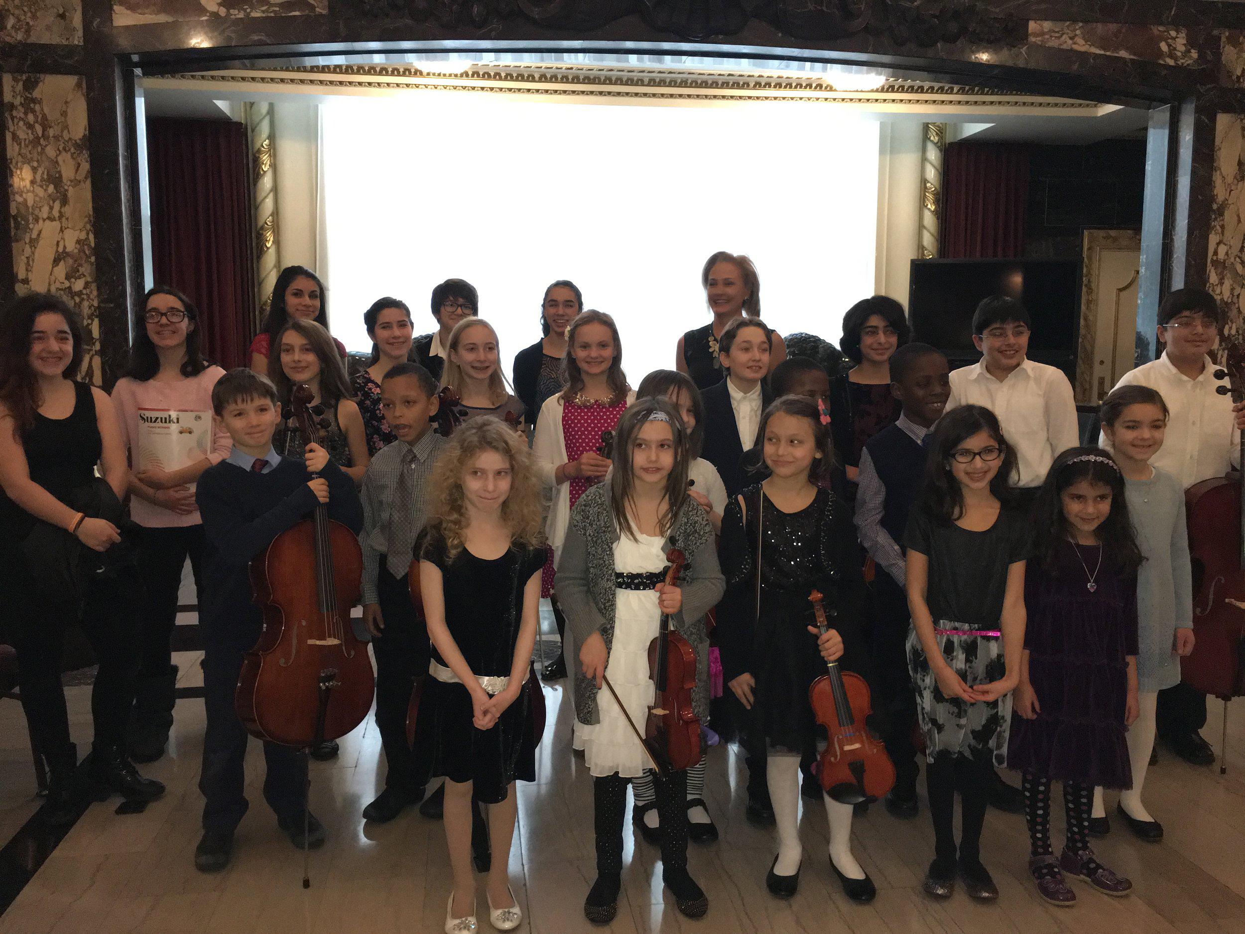 Ms. Galina Studio recital in heinz hall grand lobby, 2016, pittsburgh, pa
