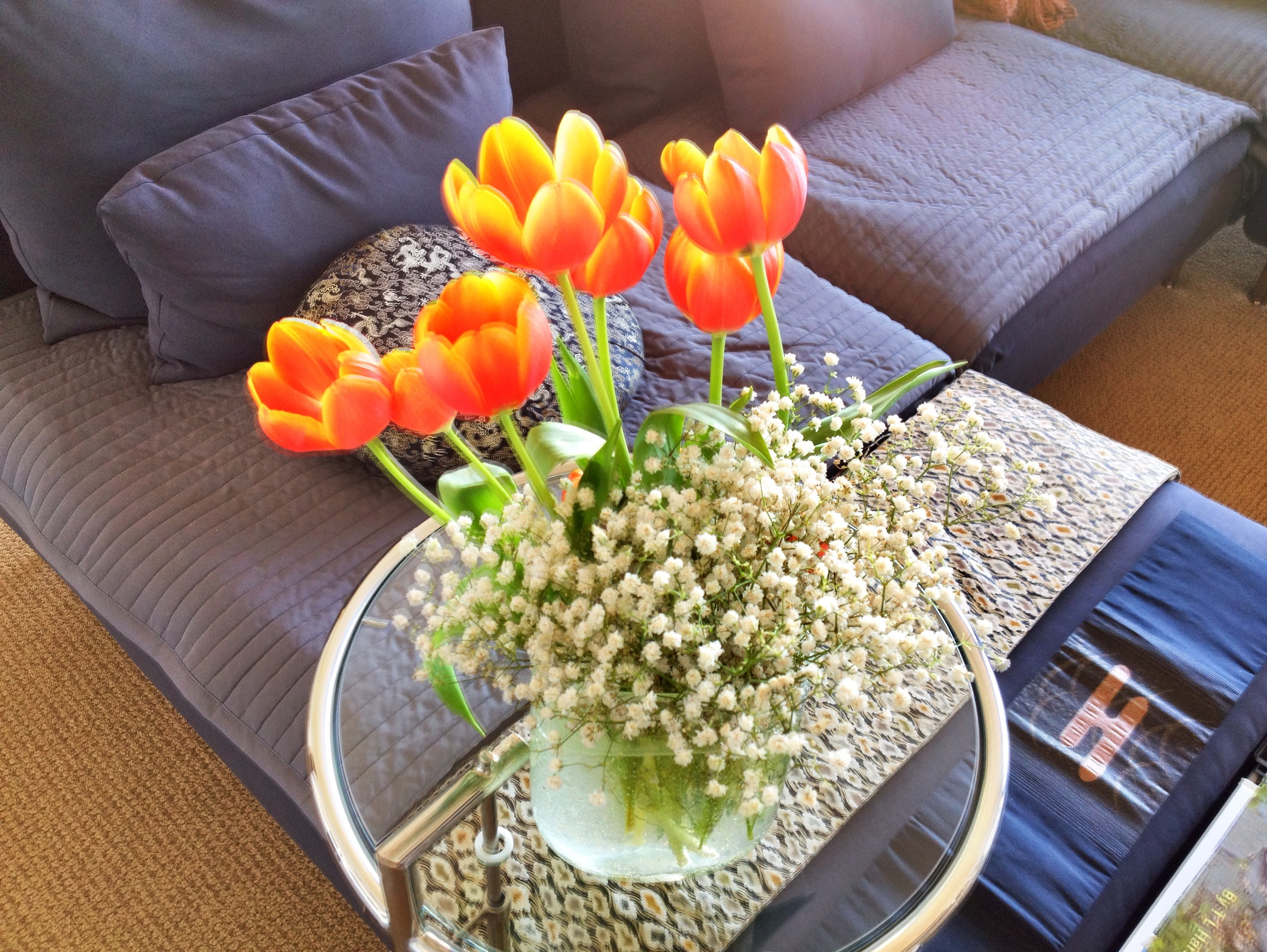 Fresh Flowers always add to the energy of a room and lift your spirits!