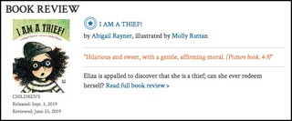 Read the whole review here:  https://www.kirkusreviews.com/book-reviews/abigail-rayner/i-am-a-thief/