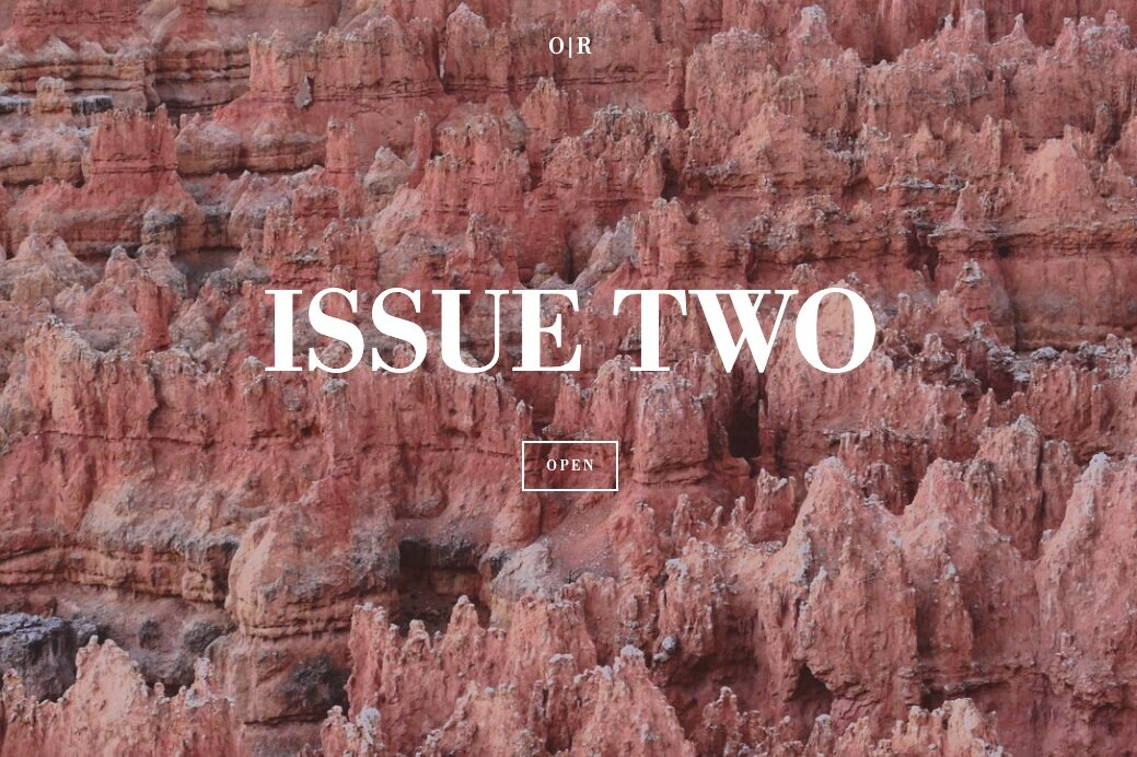 ISSUE TWO - Featuring: Mike Corrao, Noah Milligan, Mike Sutton, Cynthia Close, Beth Gilstrap & Jim Warner, alyssa hanna, Youssef Helmi, Sean Prentiss, Fabrice Poussin, and more.