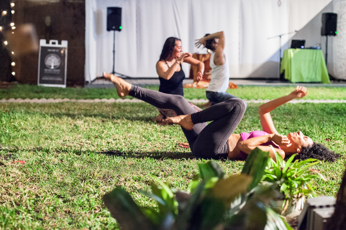 Holding JourneyDance practice outdoors at The Chill Concept, Wynwwod, Miami, FL., 2015.   Photo: Pipe Yaguas