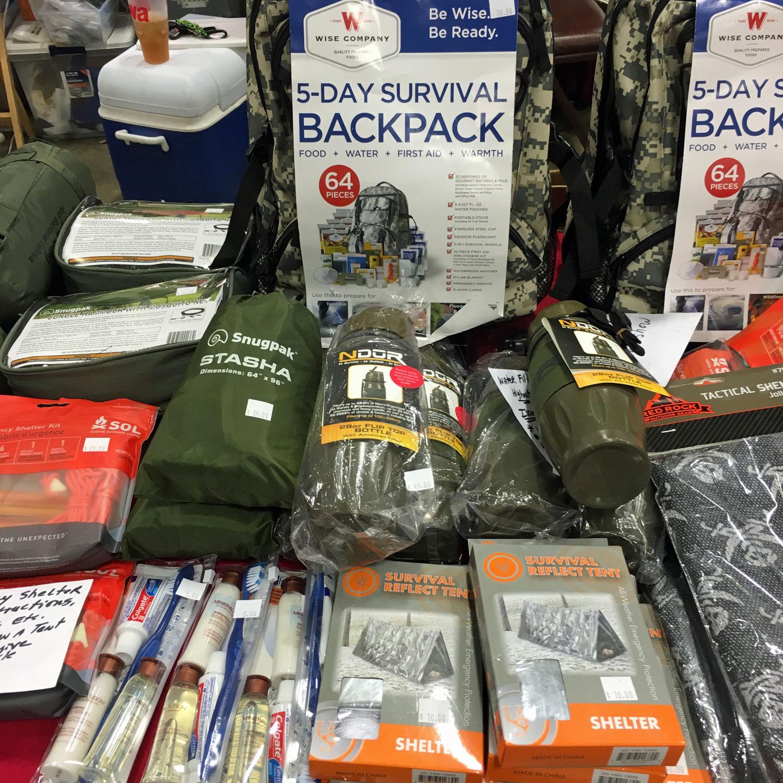 Nations Gun Show, Survival Backpack