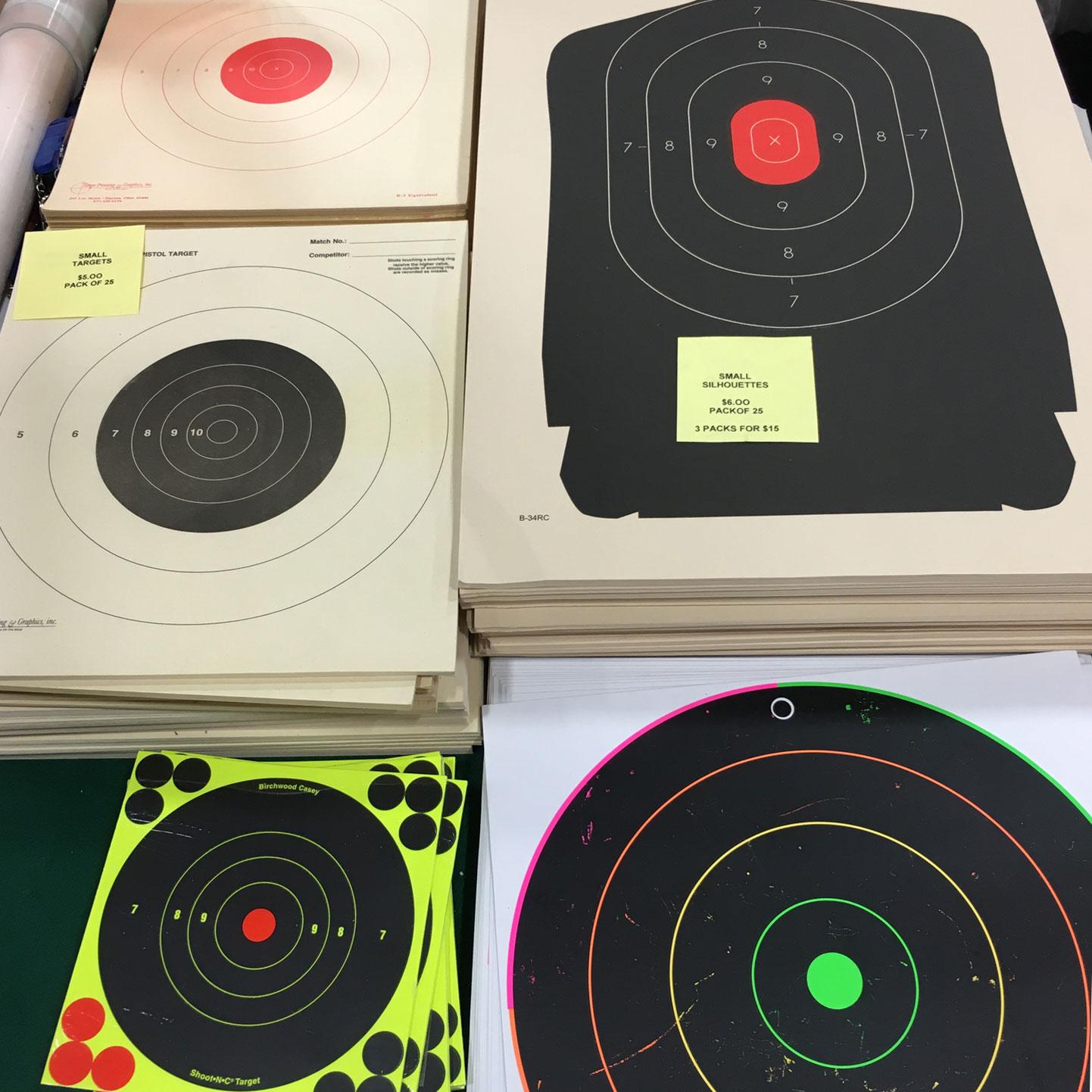 Nations Gun Show, Shooting Range Targets