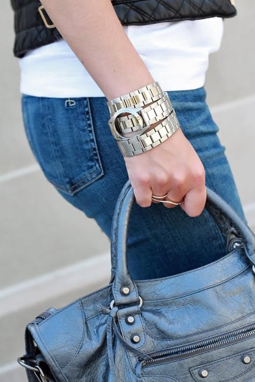 Rag and Bone Skinny Jeans, Balenciaga City Bag