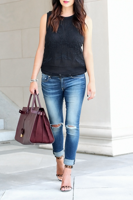 YSL Sac De Jour, Rag and Bone Jeans Outfit