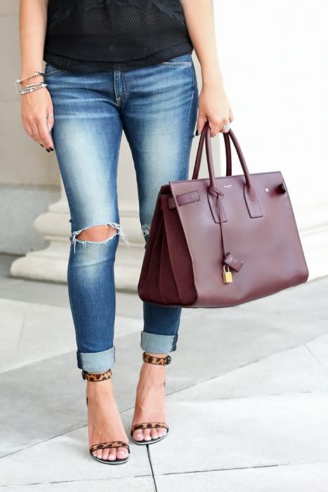 Saint Laurent Sac De Jour Outfit