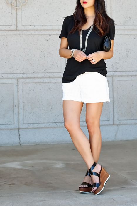 summer wedges and shorts