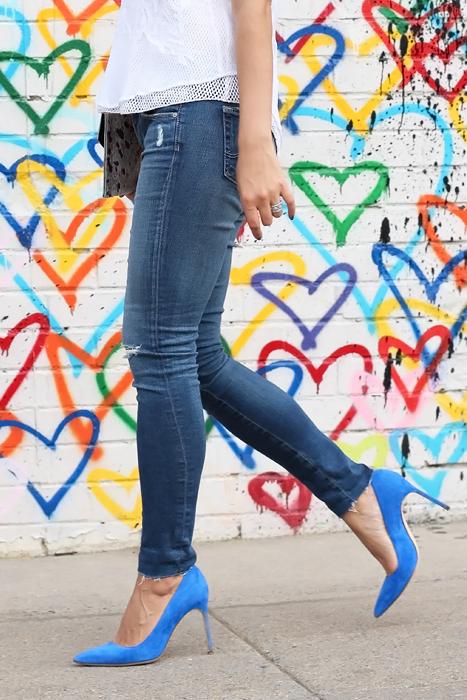 Manolo Blahnik Blue Suede Shoes