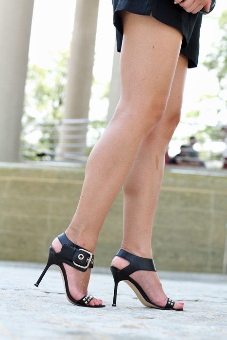 Manolo Blahnik Studded Sandals