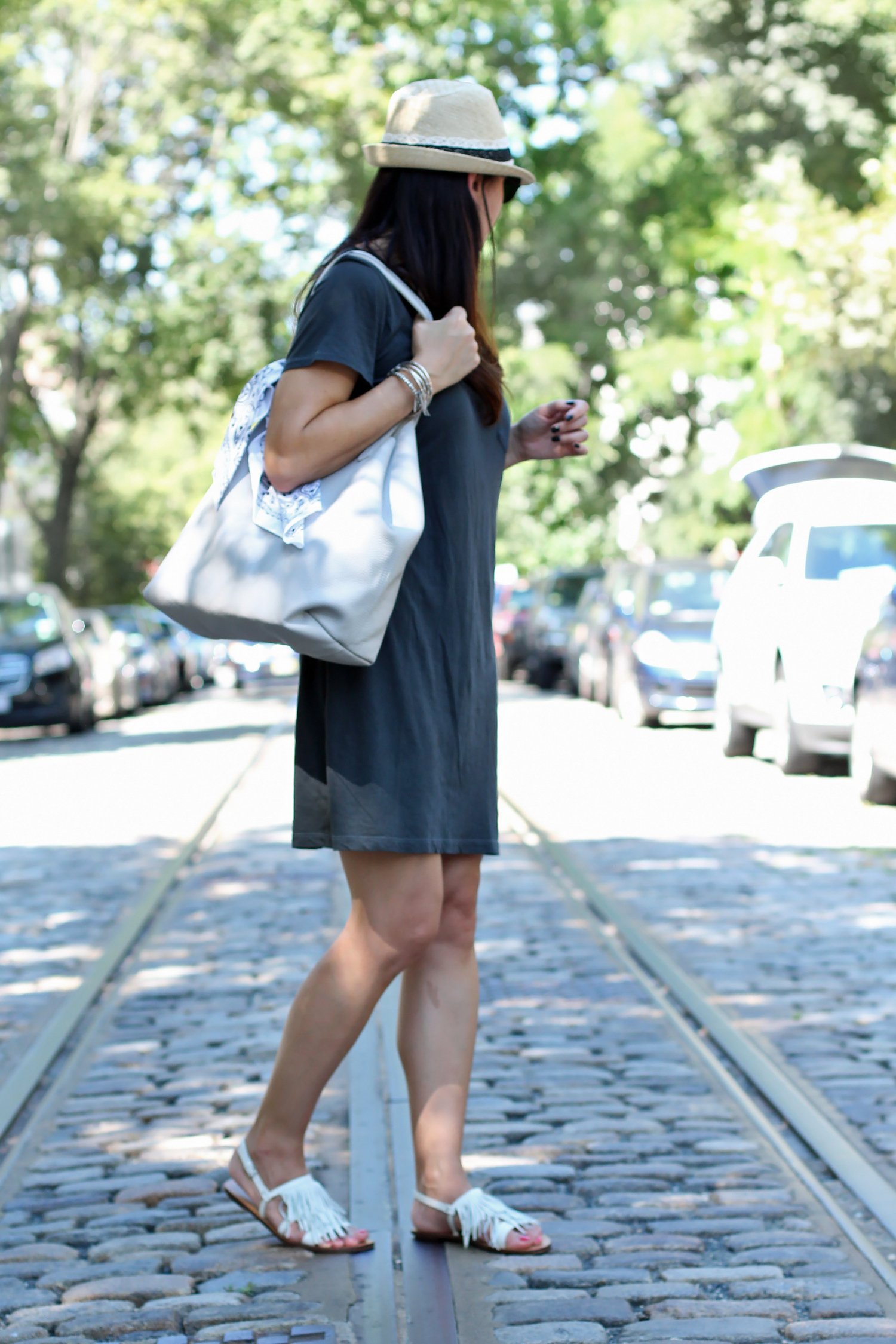 Cuyana Tote, Summer Outfit
