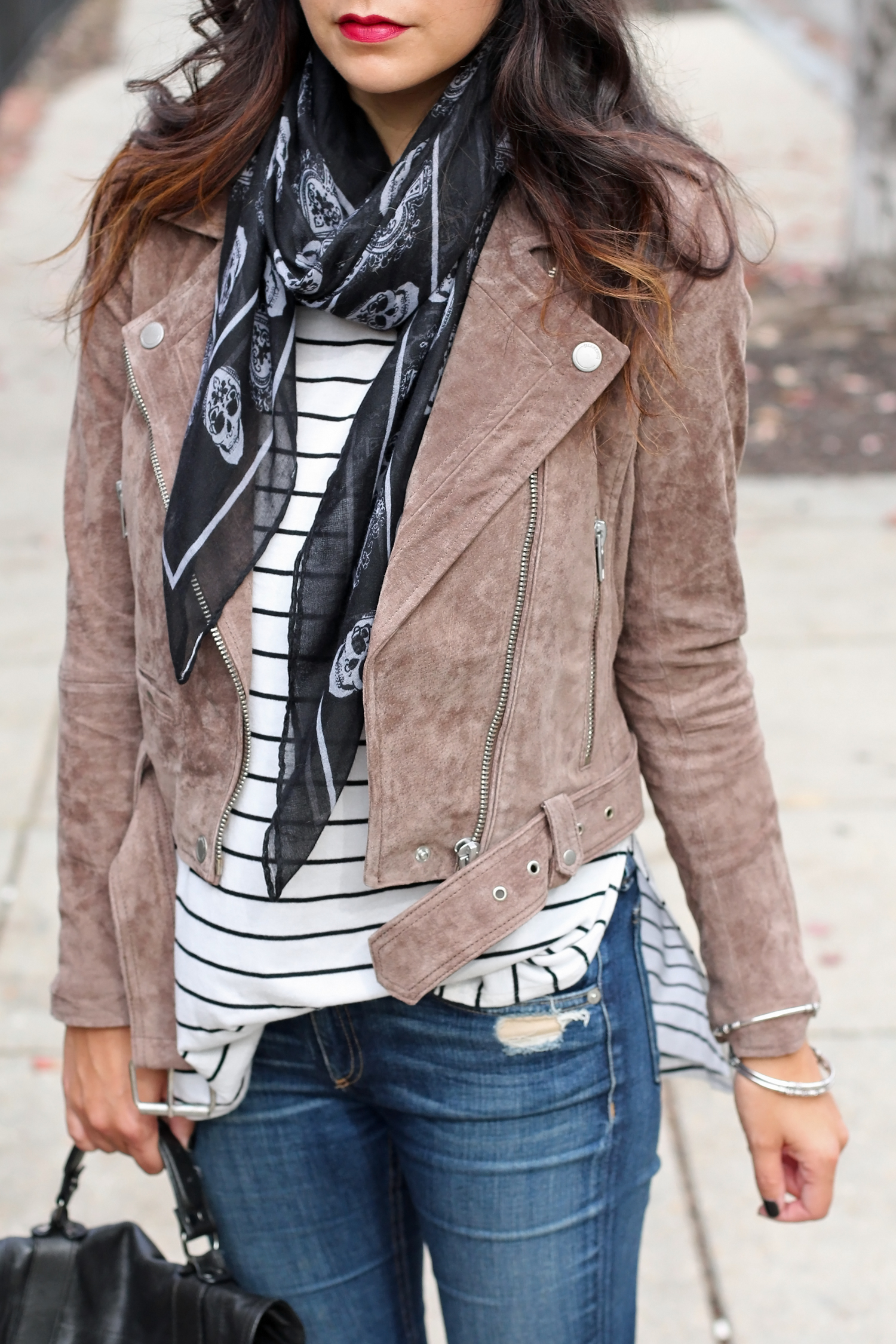 Neutral Suede Jacket