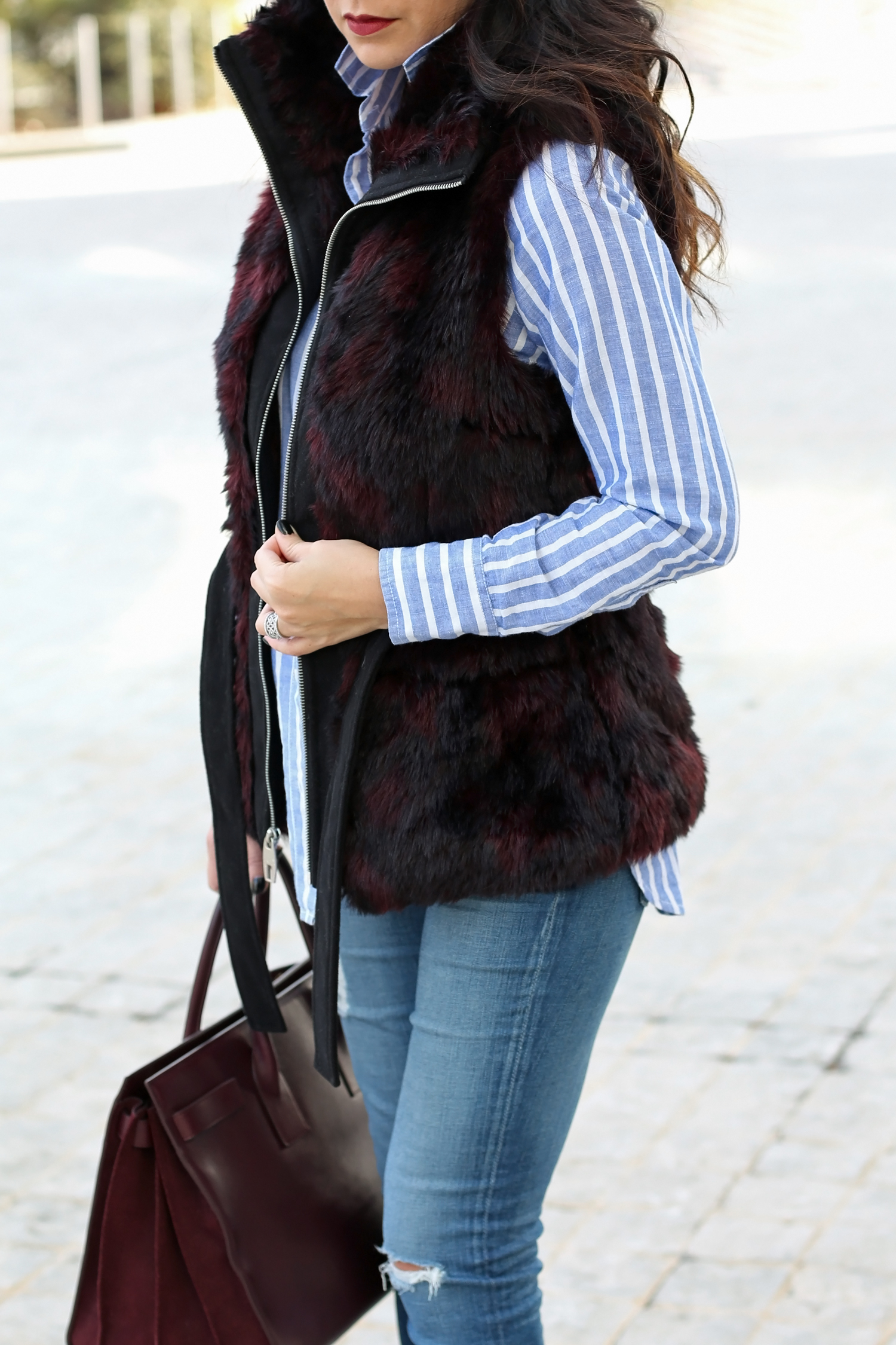 Miss Sixty Faux Fur Vest