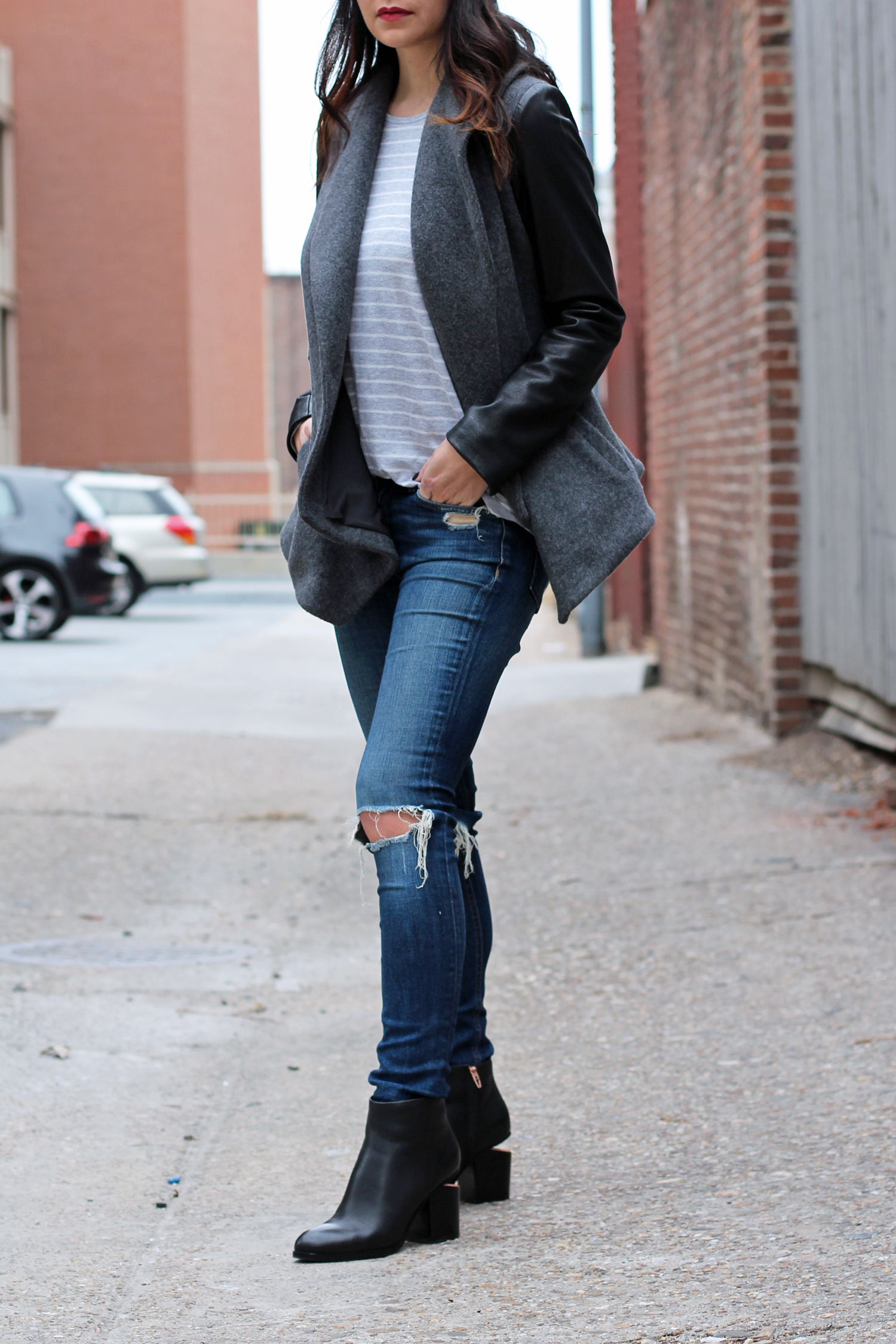 Black Ankle Boot Outfit