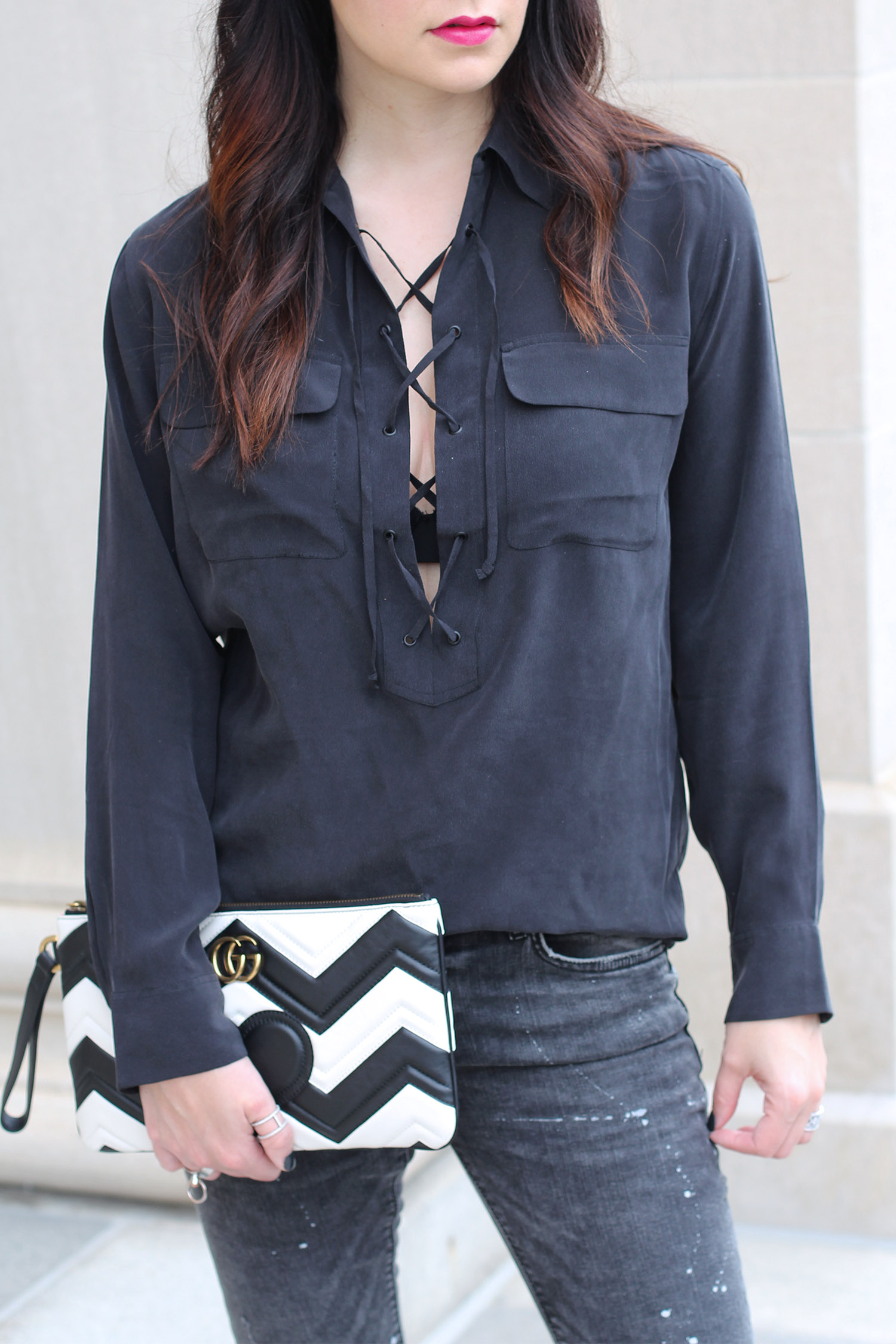 How to wear a lace up shirt