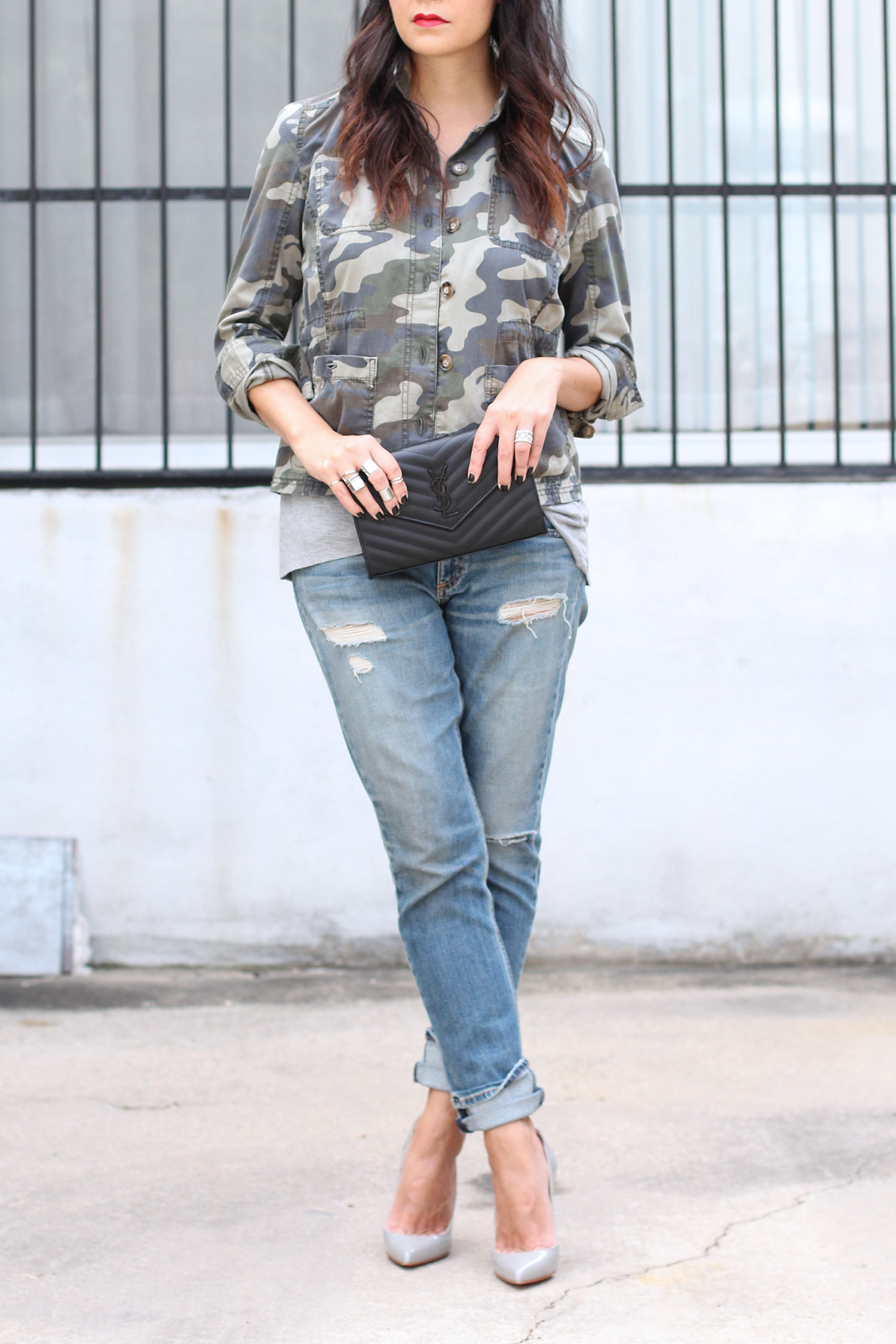 How to Style a Camo Shirt